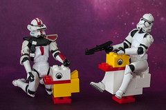4-30 The NEW Speeder Bike (eco friendly) (Dadski) Tags: white chicken starwars model lego scifi stormtrooper