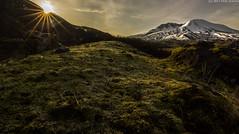 Loowit Morning (Don Jensen) Tags: mountain st volcano washington moss mount helens sunstar debri hummocks