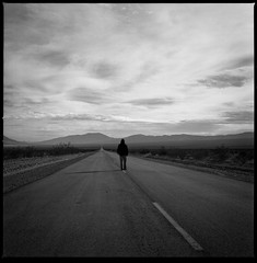 wandering (Andy Kennelly) Tags: road bw film point death hasselblad valley medium format vanishing wandering