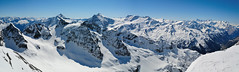 On top of Titlis [Explored on 6-April-2013] (Werner_B) Tags: blue winter sky panorama mountain snow alps cold ice berg landscape schweiz switzerland europe top natur central glacier berge explore alpine alpen landschaft ferien   alpinism   titlis turist susten    sustenpass obwalden