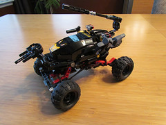 Rockcrawler Stinger w/motorcycle (JASKFAM1) Tags: car truck mod tank post lego offroad 4x4 attack cargo galaxy modified trophy shield baja custom apc armored carrier patrol avengers apocalyptic vtol mercenaries drone mercenary postapocalyptic darpa prerunner 6867 76004 gxvt