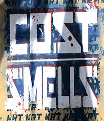Cost and Smells Paste Up Found In Lower Manhattan (Allan Ludwig) Tags: pasteup lowermanhattan costandsmells