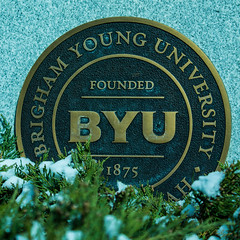 BYU (MBABailey) Tags: school snow utah bush seal provo undergraduate byu brighamyounguniversity instagram