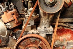 Relic (Eric Arnold Photography) Tags: vegas vw bug volkswagen rust lasvegas parts nevada beetle engine rusty nv motor