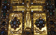 Upper Cover, Lindau Gospels, detail with Christ