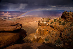 The Painted Desert by Michael Anderson (AndersonImages) Tags: park light sunset storm michael rainbow canyon trail anderson national canyonlands thunderstorm gooseberry