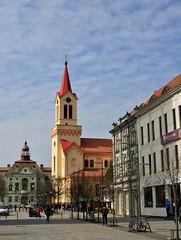 town center in Zrenjanin (D.Slaven) Tags: city church town nikon catholic cathedral serbia center walkway nikkor vojvodina zrenjanin 1855vr d5100