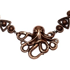 Steampunk Jewelry - Necklace - Copper Tone Octopus - Designs Exclusively by CatherinetteRings (Catherinette Rings Steampunk) Tags: fashion metal necklace gothic goth jewelry jewellery steampunk