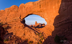 North Window at Sunrise (Bjrn Burton Photography) Tags: southwest nature sunrise landscape utah spring nikon framed arches moab archesnationalpark d800 northwindow turretarch nikon1635mmf4vr bjornburton