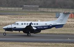 ZZ500 Royal Navy Beech 350 Avenger T1 Glasgow Prestwick 15/4/13 (BS Images.) Tags: scotland airport aircraft aviation military 350 beechcraft beech t1 prestwick pik ayrshire avenger gpa royalnavy prestwickairport southayrshire egpk glasgowprestwick zz500