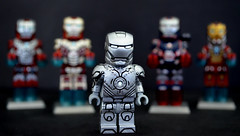 LEGO Iron Man : Mark II Suit (MGF Customs/Reviews) Tags: 2 3 man pepper iron lego mark mini tony figure mandarin patriot custom stark legion potts extremis