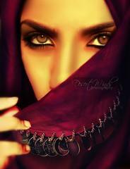 The Arab Belly (eset is) Tags: beauty eyes purple muslim tan bellydancer exotic arab mysterious yemen saudiarabia arabculture hjab