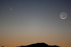Moon and Comet fb (Az Skies Photography) Tags: arizona sky rio skyline night canon skyscape eos rebel az rico comet arizonasky 2013 riorico panstarrs rioricoaz t2i arizonaskyline arizonanightsky canoneosrebelt2i eosrebelt2i arizonaskyscape cometpanstarrs