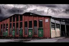 Former train station (Patrick Bttger) Tags: old dark gloomy cloudy bahnhof windy trainstation former dunkel bewlkt ehemalig windig dster