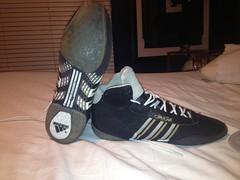 John Smith Super Lights (TXUSAW) Tags: black oklahoma john shoes state wrestling smith wrestler adidas sls singlet