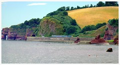 Coasting (Welsh Gold) Tags: red summer st sandstone plymouth cliffs exeter service davids dawlish triassic 57603 2e75