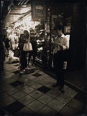 Shibuya Night Shots (the_steve_cox) Tags: street people evening tintype vintage mobile iphone shibuya japan