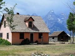 Mormon Row (Hayseed52) Tags: mormon settlement homestead house pink tetons mountains park
