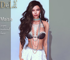 """=DeLa*= new hair """"Maisie"""" (=DeLa*=) Tags: new hair mesh style sl secondlife tres chic dela materials fitted secondlifefashion slhair"""