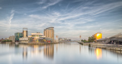 Salford Quays (Ian S Armstrong) Tags: uk england manchester salford buildings architecture longexposure hdr photomatix tonemap urban city cityscape