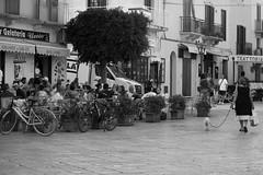 lady and the dog (usurfaru_) Tags: favignana lady dog street bar bike bikes
