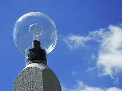 Greenfield Village Lamppost (wildrosetn39) Tags: glass globe light post old edison sky clouds