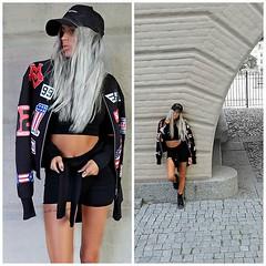 BASEBALL by Tilla L., 24 year old Model from Ibiza, Sweden (9lookbook.com) Tags: purplehair retro swag swedishgirl tiny