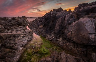 St. Clements rock-pool/sunset No. 3.