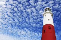 Red, White & Blue (Nick Fewings 4.5 Million Views) Tags: red white blue lighthouse sky clouds colours catchy portland bill dorset uk canon eos 50d