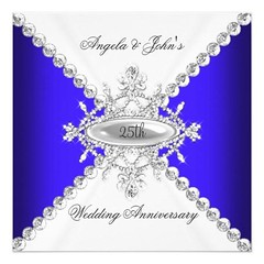(Elegant Royal Blue White 25th Wedding Anniversary Card) #25Th, #25ThWeddingAnniversary, #Anniversary, #Blue, #Celebrations, #Design, #Elegant, #Elegant25ThWeddingAnniversary, #Elegant25ThWeddingAnniversaryParty, #Events, #Formal, #Jewel, #Lace, #Occasion (CustomWeddingInvitations) Tags: elegant royal blue white 25th wedding anniversary card 25thweddinganniversary celebrations design elegant25thweddinganniversary elegant25thweddinganniversaryparty events formal jewel lace occasion parties party popular silver silverweddinganniversary weddinganniversary zizzago is available custom unique invitations store httpcustomweddinginvitationsringscakegownsanniversaryreceptionflowersgiftdressesshoesclothingaccessoriesinvitationsbinauralbeatsbrainwaveentrainmentcomelegantroyalbluewhite25thweddinganniversarycard weddinginvitation weddinginvitations