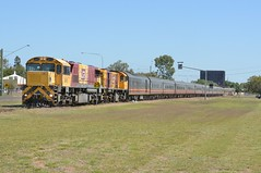 SPIRIT OF THE OUTBACK (rob3802) Tags: barcaldine 1720class 1723 2400class 2413 qr queenslandrail diesel diesellocomotive dieselelectriclocomotive locomotive loco railway rail queensland spiritoftheoutback
