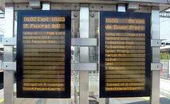 Ebbsfleet Intl Passenger Information Screen on the domestic platforms. (DesiroDan) Tags: highspeed1 ebbsfleetinternationalstation eurostar southeasternhighspeed railwaystationsintheuk