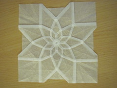 Radial tessellation (symmetry 8) (Helyades) Tags: origami pli pliage fold carr square tracing calque tessellation geometry gomtrie radial gretter
