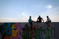 (Valria Felix) Tags: people sunset sun whall boys graffiti hiphop color colorful urban citylife streetphotography