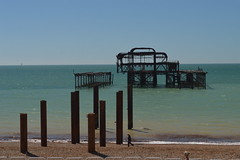 The Remnants of West Pier (CoasterMadMatt) Tags: britishairwaysi3602016 britishairwaysi360 british airways i360 brightontower tower towers observationtower newfor2016 new brighton2016 brighton seasidetowns seaside town towns beach sea englishbeaches ocean westpier west pier remnant ruin ruins firedamage seafront building structure architecture britishseaside southeastengland england britain greatbritain gb unitedkingdom uk august2016 summer2016 august summer 2016 coastermadmattphotography coastermadmatt photos photography photographs nikond3200 sussex englandssouthcoast