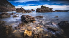 Rocky Palette (Augmented Reality Images (Getty Contributor)) Tags: barnacles bigstopper bluesky canon coastline cullen landscape leefilters longexposure morayshire rocks scotland seascape summer water