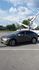 Tesla Model X side (TNCleanFuels) Tags: 2016 national drive electric week knoxville tn tennessee east clean fuels coalition volunteers keva vehicle association turkey creek eric cardwell jonathan overly melissa goldberg hybrid plug ev pev phev plugin etcleanfuels test learn gas petroleum cities