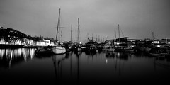 Bristol's Harbourside (Ged Slaughter Photography) Tags: bristol bw mono monochrome gedslaughter harbourside harbour panorama landscape water boats boatyard albion dockyard docks
