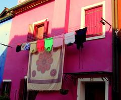 Colourful Burano, laundry (Nada BN) Tags: burano lagunadivenezia italy