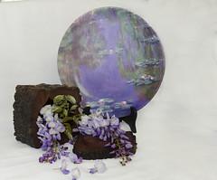 remembering Monet (Bev-lyn) Tags: wisteria flowers monet purple stilllife