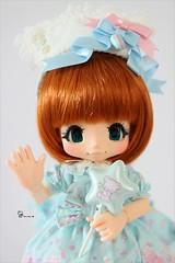 Kiki in pastel colors (AninhaDias) Tags: bear cute colors japan outfit doll pretty juice pastel balloon decoration dream tiny bjd resin resina boneca kiki rement sax angelic rare lts sukie mueca poupe kinoko