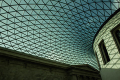 35/365 The British Museum (doe-a-deer) Tags: city uk blue roof england sky urban building london museum architecture clouds pattern shadows britain columns bloomsbury inside britishmuseum
