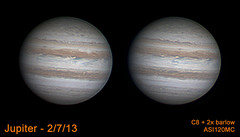 Jupiter  2/7/13 (zAmb0ni) Tags: sky night giant solar system gas astrophotography planet astronomy jupiter
