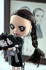 WEDNESDAY (Domenica Beyer) Tags: love illustration sisters canon photography doll dolls handmade ooak collection handcrafted blythe custom takara limitededition gravura coleo ebl cherryberry liccabody canoneos60d