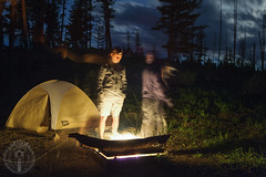 Amber gum (Trail Image) Tags: camping jason night oregon fire ben tent campground abbott badmemory saddlecreekcampground