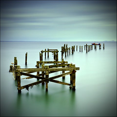 From the Edge of the Deep Green Sea    (: Explored :) (Pixelsuzy) Tags: uk longexposure greatbritain sea england canon pier seaside unitedkingdom britain wideangle dorset swanage englishchannel 6d canon1740l oldpier dorsetcoast southwestengland woodenpier swanageoldpier canon6d lee10stopfilter lee06gradfilter pixelsuzy