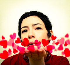 Happy love day (Rachael Ashe) Tags: red portrait people selfportrait self hearts valentine valentinesday happyvalentinesday beyourownbeloved