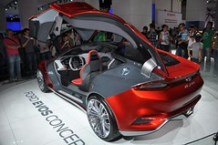 Ford Evos concept (Starcadet) Tags: auto red up smart vw volkswagen mercedes frankfurt citroen beetle mini rover bull cadillac renault land rolls audi hyundai corvette mitsubishi royce bentley opel ausstellung iaa peugot infiniti maybach automobil