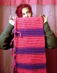Coming Up Short (Georgie_grrl) Tags: selfportrait toronto ontario me scarf knitting workinprogress moi selfie cowl dangit socloseyetsofar cans2s mydarkpinkside samsungd760