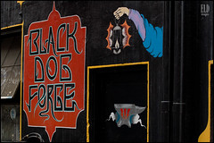 Black Dog Forge (WordOfMouth) Tags: morning urban graffiti alley belltown 2ndavenue batterystreet blackdogforge rendezvousrestaurant